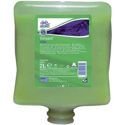 Deb Hand Soap Refill Solopol Lime 4 Pieces of 2 L