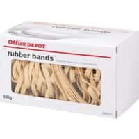Office Depot Rubber Bands Ø 80 mm 80 x 6 mm 500 g