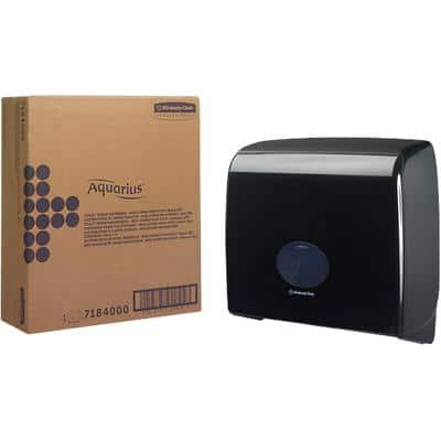 AQUARIUS Toilet Tissue Dispenser Jumbo Plastic Black