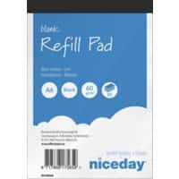 Niceday Refill Pads White Plain Perforated A6 10.5 x 0.6 x 14.8 cm 10 Pieces of 80 Sheets