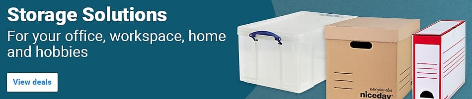 Storage Solutions. For your office, workspace, home and hobbies
