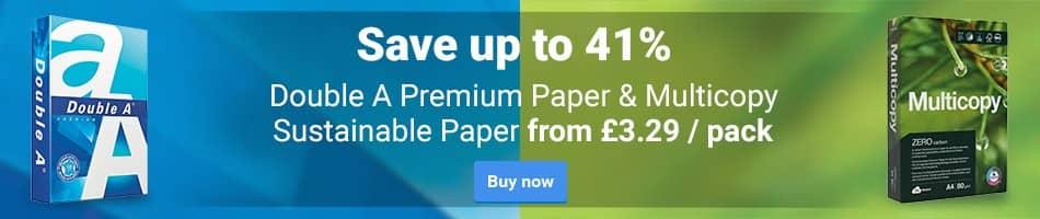 Double A Premium Paper & Multicopy Sustainable Paper