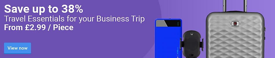 Save up to 38%Travel Essentials for your Business Trip. From £2.99 / Piece