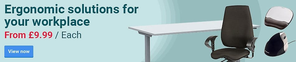 Ergonomic solutions for your workplace. From £9.99 / Each
