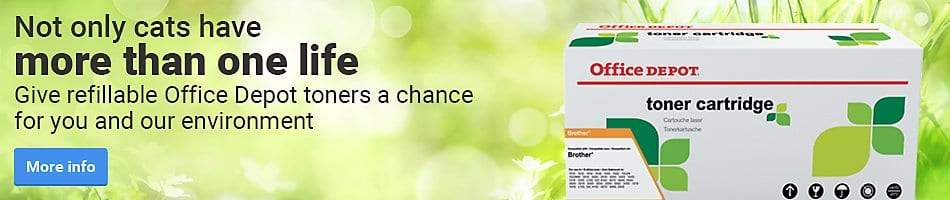 Give refillable Office Depot toners a chance for you and our environment