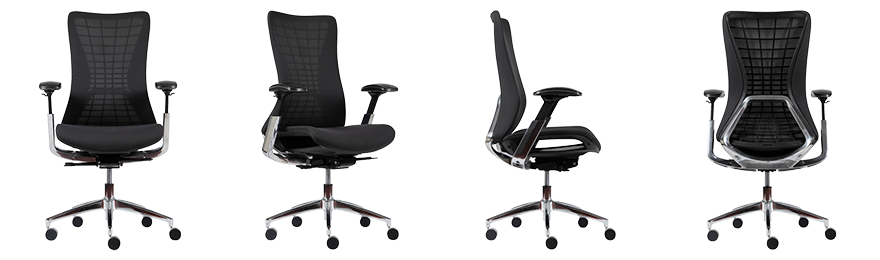 WorkPro Ergonomic Office Chair Cosmo Synchro Tilt Black
