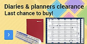 Diaries & planners clearance - Last chance to buy!