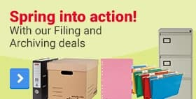 Spring into action! With our Filing and Archiving deals