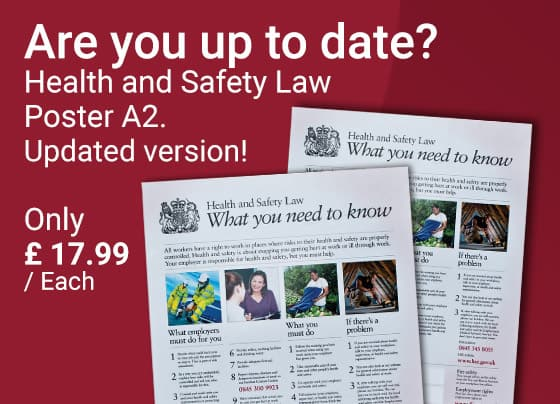 Are you up to date? Health and Safety Law Poster A2. Updated version!